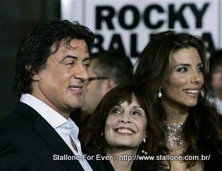Sylvester Stallone com Talia Shire