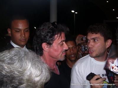 Osmar Daou com Sylvester Stallone.