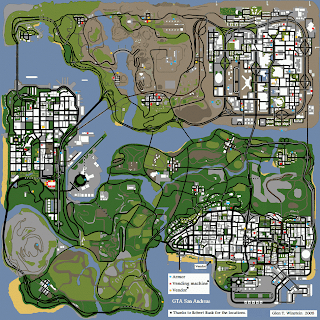 Grand Theft Auto: San Andreas List SE (Armor/Vending Machine/Vendor map)