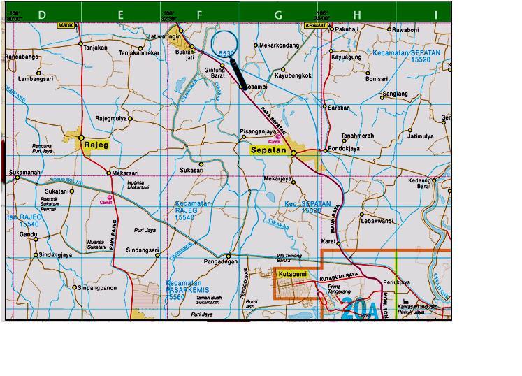 Peta Kabupaten Tangerang