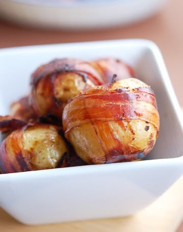 Bacon Wrapped Baby Potatoes | cooking and eating with polkadotcupcake