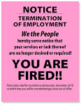 PINK SLIPS FOR POLITICIANS!