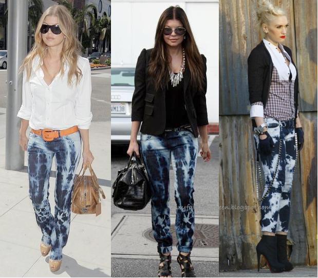 Fashion week Denim tie dye trend for lady