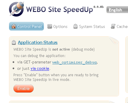 WEBO Site SpeedUp Live Demo