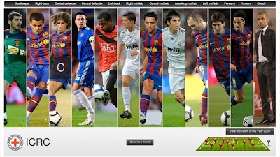 More than 4m votes were cast to produce the 2009 uefa.com users` Team of the Year (©UEFA)