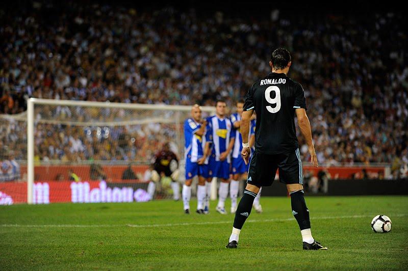 Cristiano Ronaldo Real Madrid 2011 Free Kick  Away Jan For Free