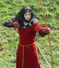 A Prom Dress Gown: Medieval Archery