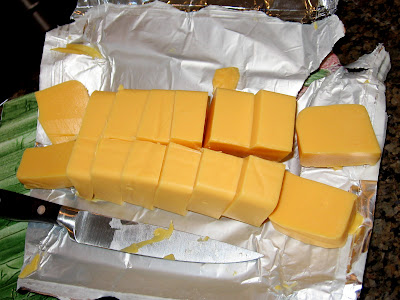 Velveeta Mac And Cheese. a pound of Velveeta.