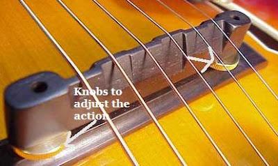 guitar action knob