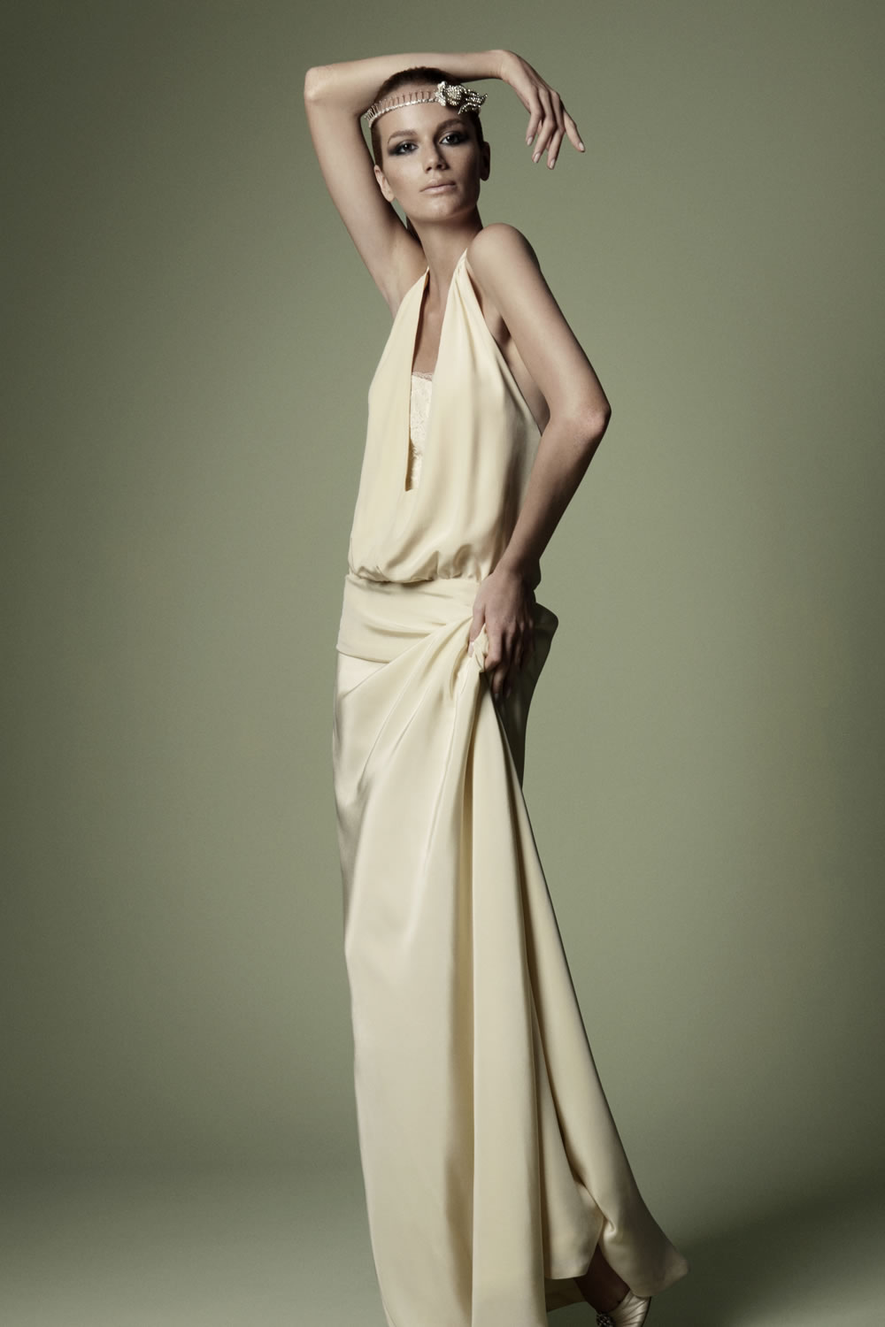 1920s style wedding Dress from the Decades Silk Collection