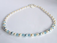 Light Blue Necklace by MagsBeadsCreation