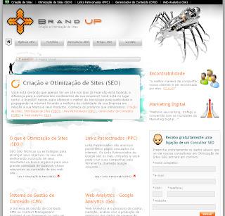 Site da Brand UP Criação e Otimização de Sites SEO