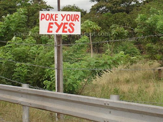 poke your eyes
