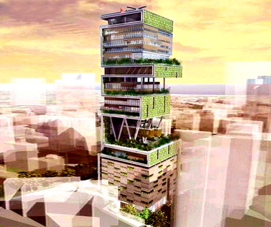 Antilla the world 39 s largest private home 07 pics for Big house images in india