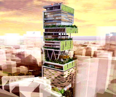 Antilla - the world's largest And expensive private home  Antilia-largest-private-home-06