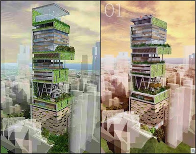 Antilla - the world's largest And expensive private home  Antilia-largest-private-home-03