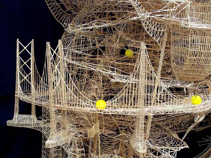 Sculpture of toothpicks