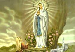 Virgen de Lourdes, Francia.