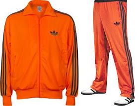 adidas ensemble orange