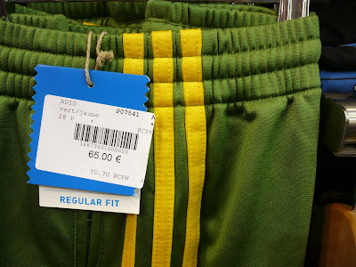adidas red green yellow stripe tracksuit