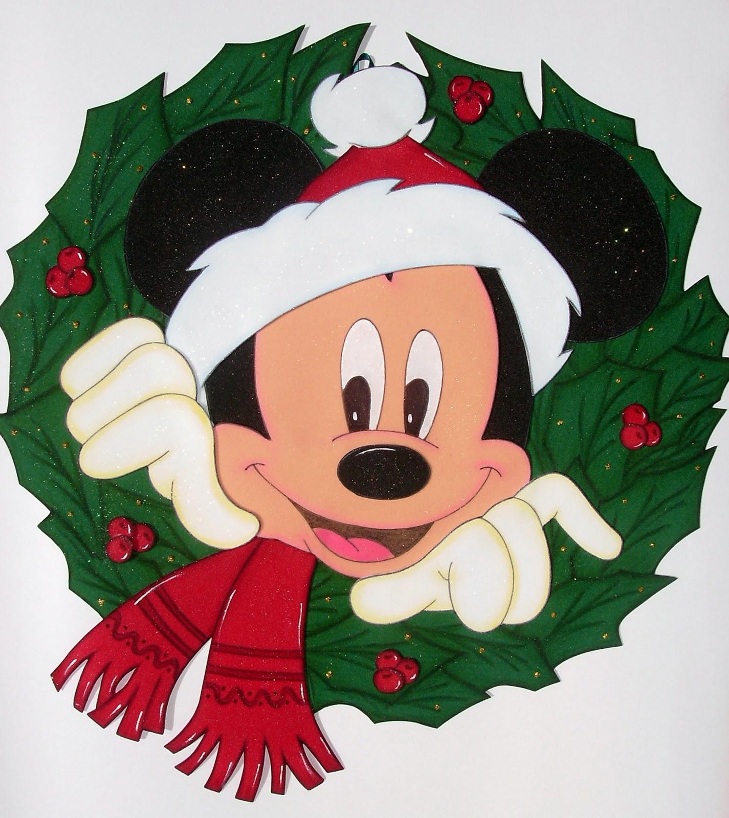 Guelafoami mickey en navidad for Adornos navidenos mickey mouse