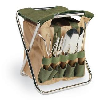 Garden tool kit the gardener garden seat garden tools for Gardening tools kit set