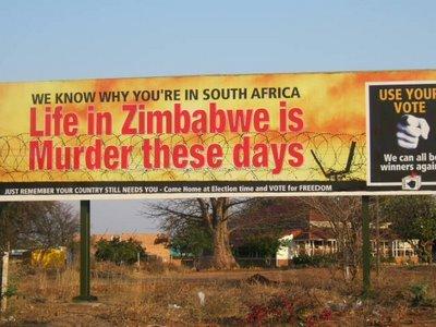 BILLBOARD AT MUSINA  (MESSINA): SA/ZIM BORDER!