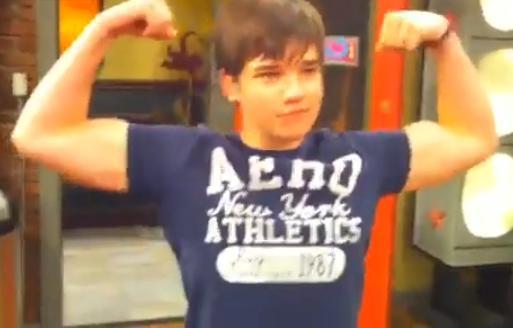 nathan kress muscles. nathan kress shirt off 2010. muscles