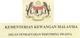 Registration / Renewal of Kementerian Kewangan Malaysia
