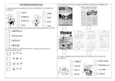 SIMULADO+PROVINHA+BRASIL+ +1%C2%AA+Parte Simulado Provinha Brasil para crianças
