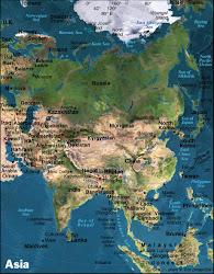 Kort over Asien