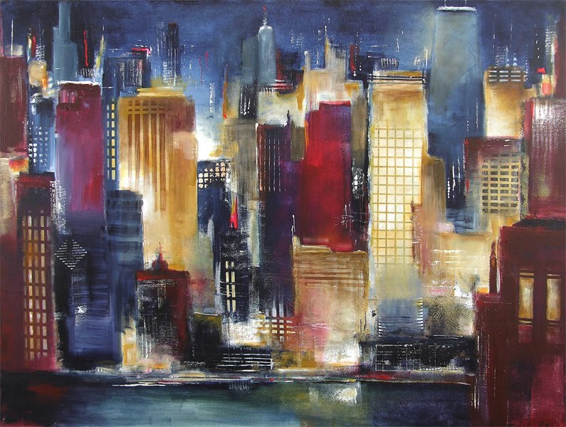 chicago skyline art - photo #18
