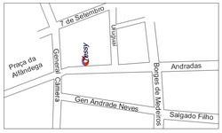 Mapa de ruas de Porto Alegre