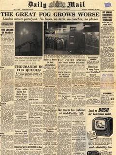 London Fire Journal Great Smog 1952