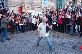 Le choeur de lutte à Montpellier