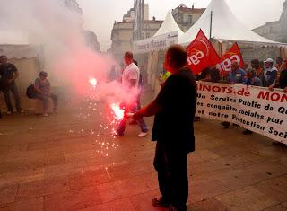 Manifestation pour les retraites, Montpellier
