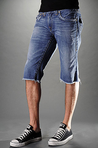 The latest trend in men's fashion is cutoff shorts. No longer just for casual wear, cutoffs have found their way into many men's wardrobes and are worn numerous ways.