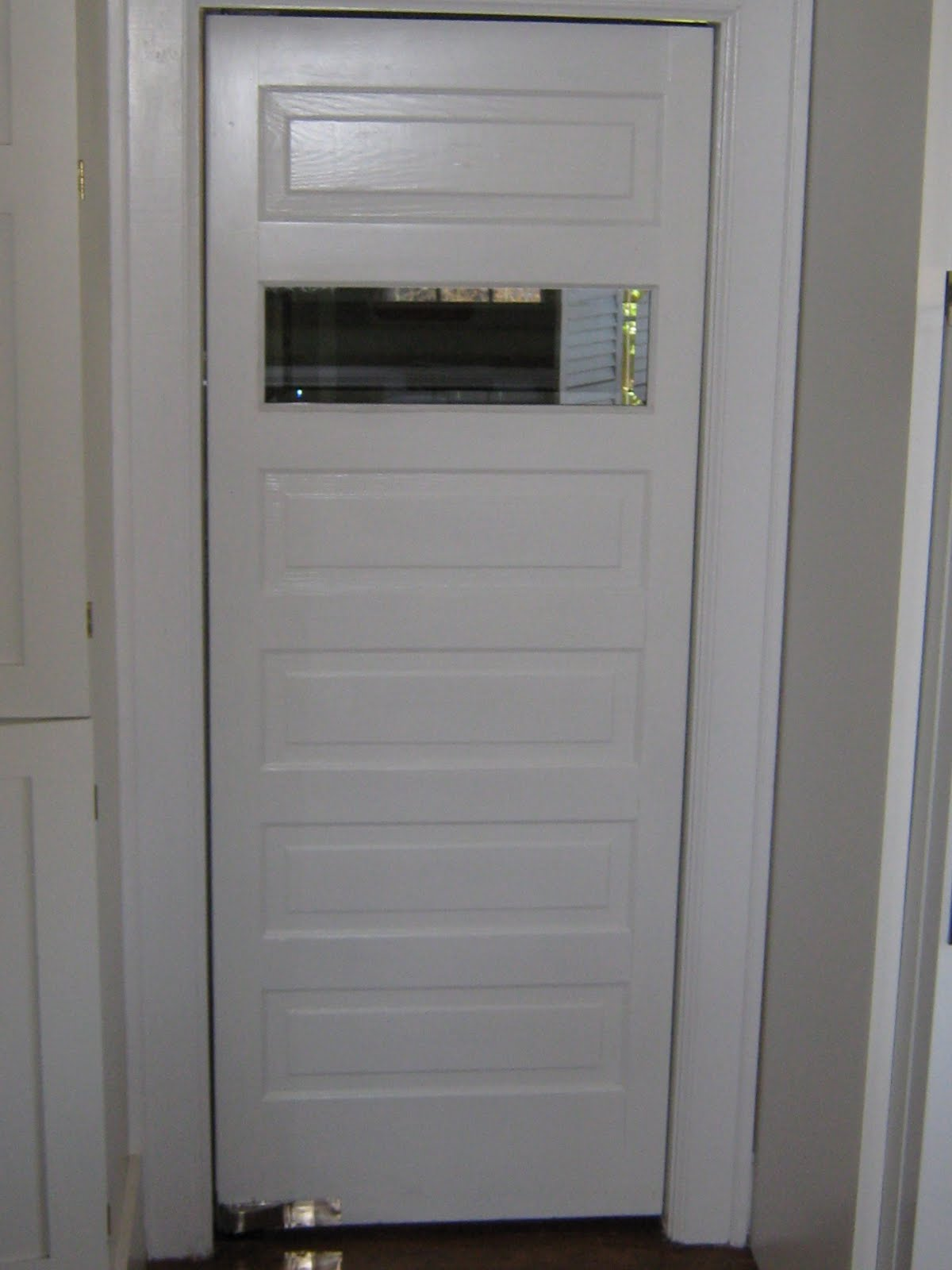Swinging Kitchen Door with Window