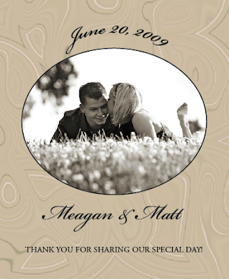 Wedding Wishes with Wine Labels
