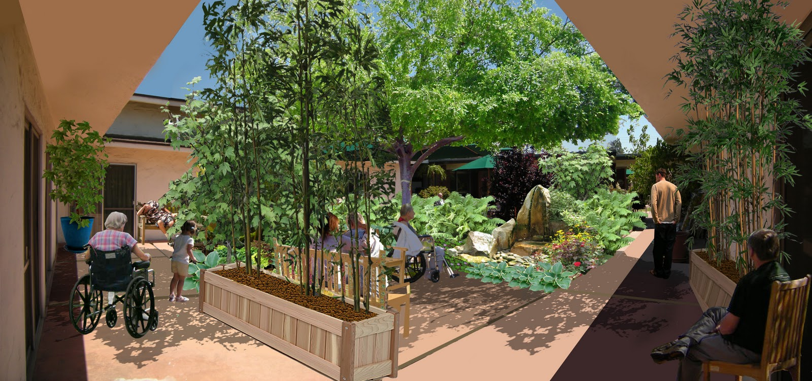 Therapeutic Landscape Projects. The Courtyard Garden, Magnolia Special Care  Center ...