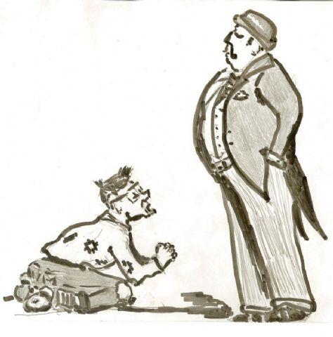 حوار بين الغني والفقير