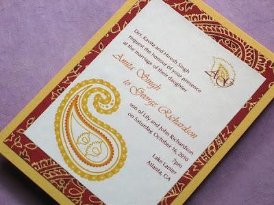 Indian Wedding Favors on Etsy Wedding Street Team  Item Of The Day  Indian Wedding Invitation