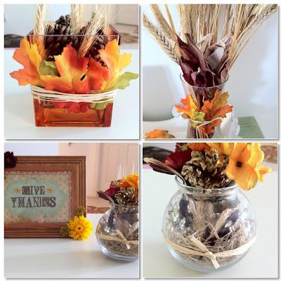 Cheap and simple diy thanksgiving decor ideas for Easy cheap thanksgiving decorations