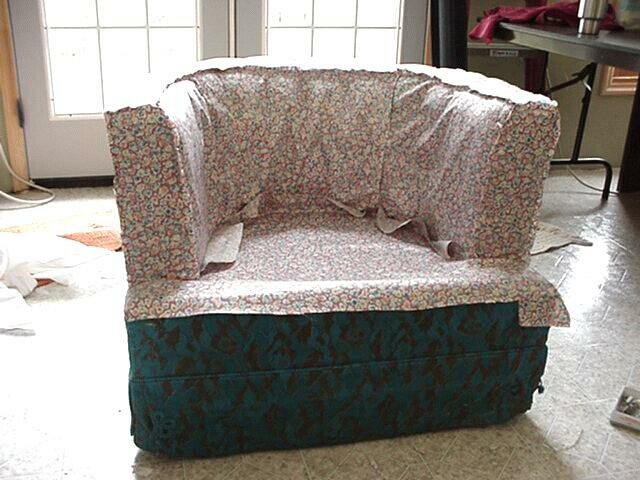 Slipcover University Covering A TubChair Or Barrel Chair