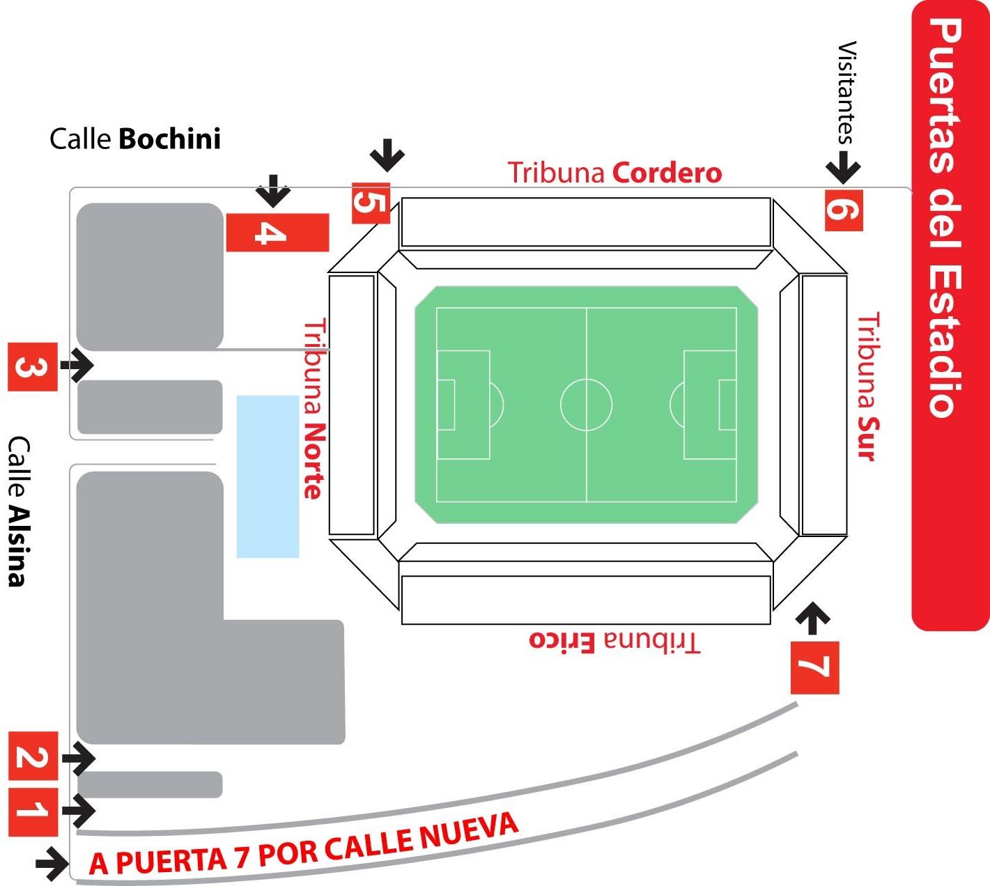 F tbol al rojo vivo venta de entradas para el partido for Puerta 20 estadio racing