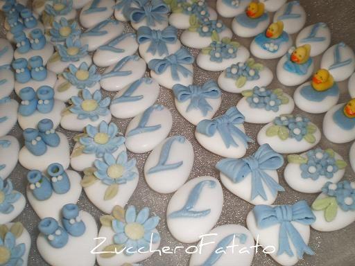 Decorazioni Sala Battesimo : La piccola bottega dello zucchero: confetti decorati per battesimo