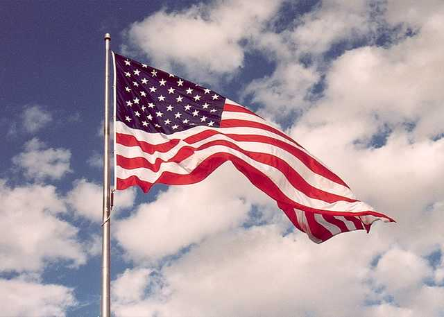 american flag waving in wind. wind, waving in