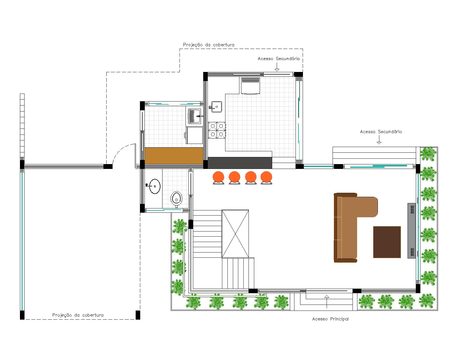 estudando ARQUITETURA!!: Casa Andrade  60m² #A46227 1600 1280