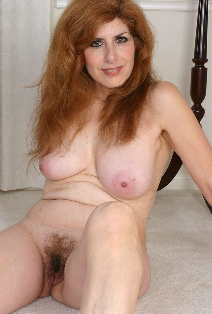Long red hair mature