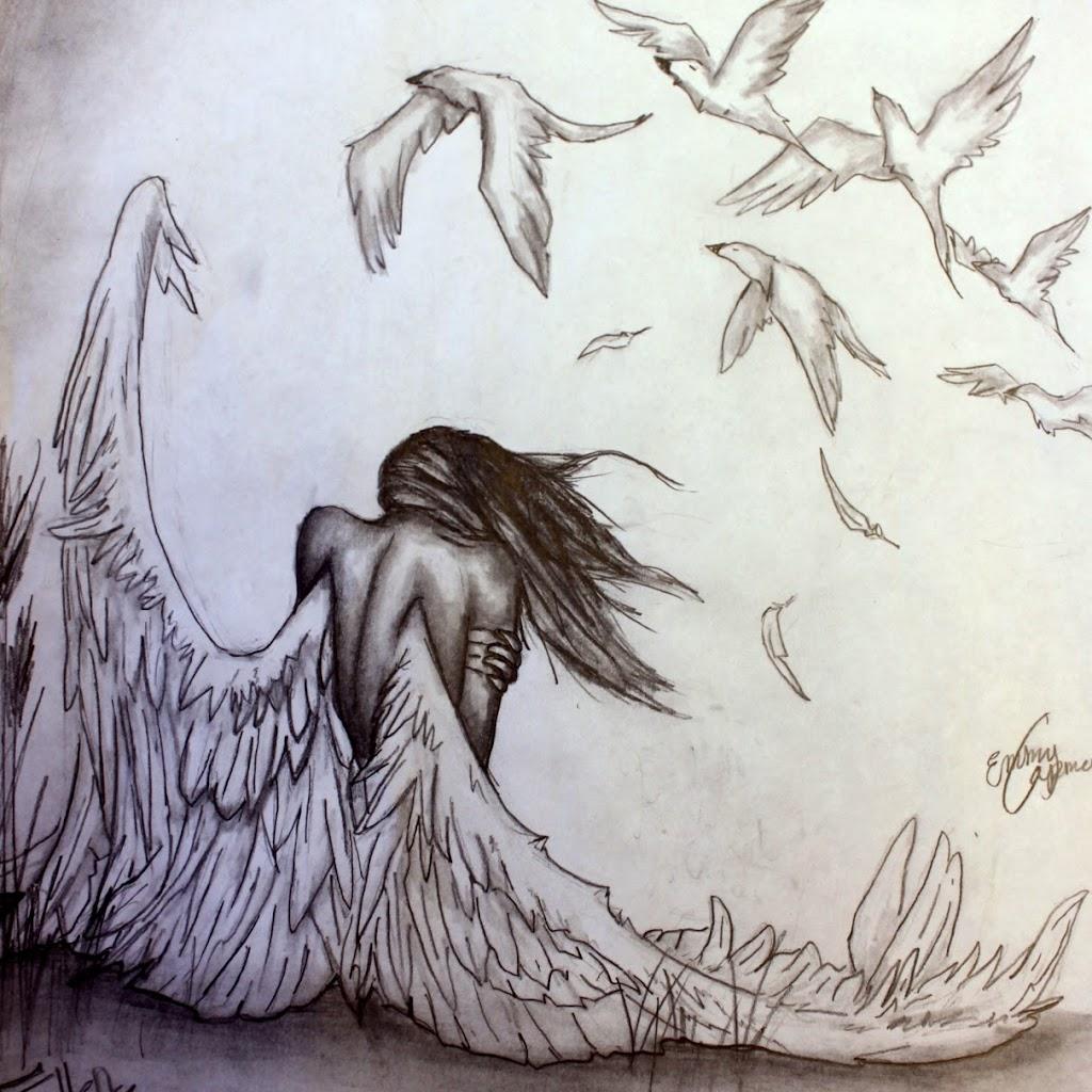 Angel Anime Drawings In Pencil